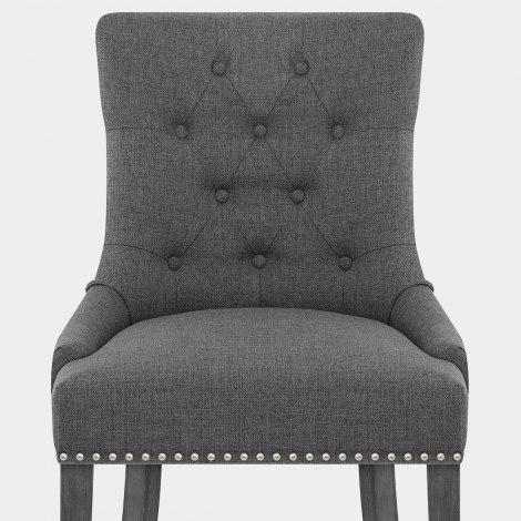 Etienne Dining Chair Charcoal Fabric Seat Image