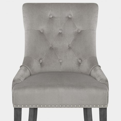 Etienne Dining Chair Grey Velvet Seat Image