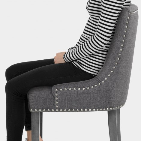 Etienne Bar Stool Charcoal Fabric Seat Image