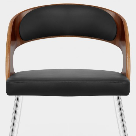 Evans Dining Chair Walnut & Black Seat Image