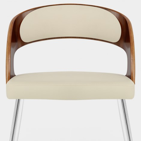 Evans Dining Chair Walnut & Cream Seat Image