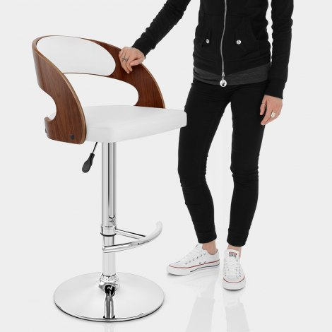 Eve Wooden Bar Stool White Features Image