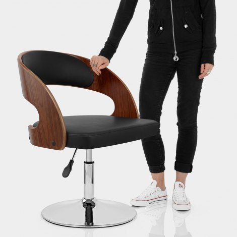 Evelyn Chair Walnut & Black Features Image