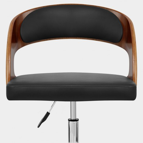 Evelyn Chair Walnut & Black Seat Image