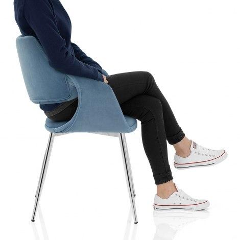 Fairfield Chrome Chair Blue Velvet Frame Image