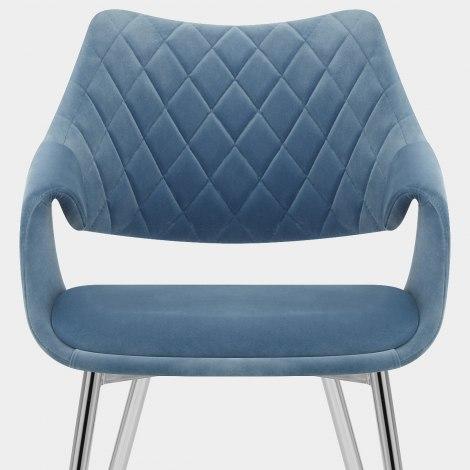 Fairfield Chrome Chair Blue Velvet Seat Image