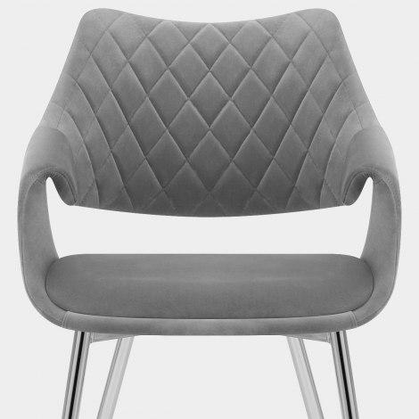 Fairfield Chrome Chair Grey Velvet Seat Image