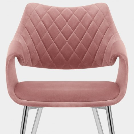 Fairfield Chrome Chair Pink Velvet Seat Image