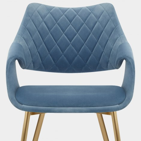 Fairfield Gold Chair Blue Velvet Seat Image