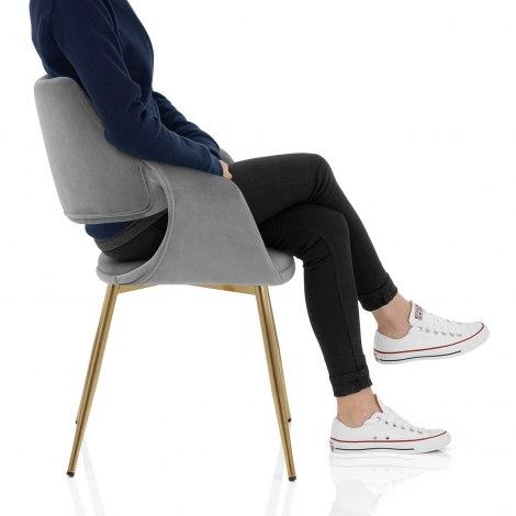 Fairfield Gold Chair Grey Velvet Frame Image