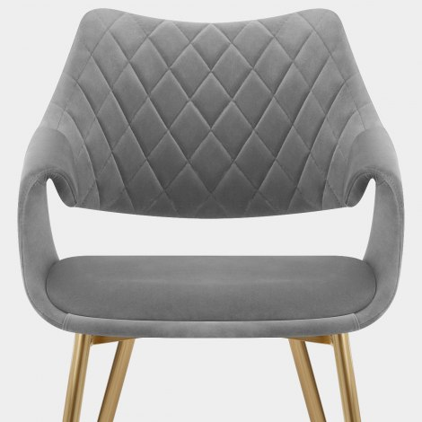 Fairfield Gold Chair Grey Velvet Seat Image