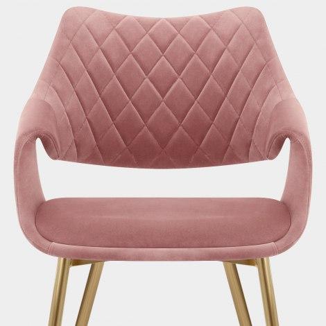 Fairfield Gold Chair Pink Velvet Seat Image