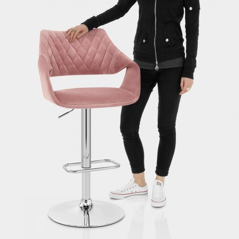 Fairfield Bar Stool Pink Velvet Features Image