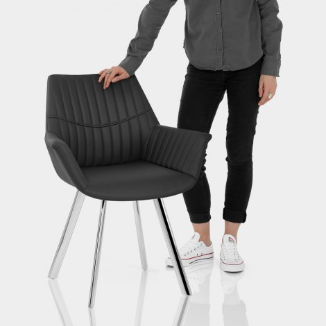 Finley Dining Chair Black Features Image