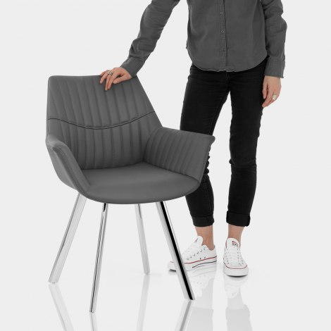 Finley Dining Chair Grey Features Image