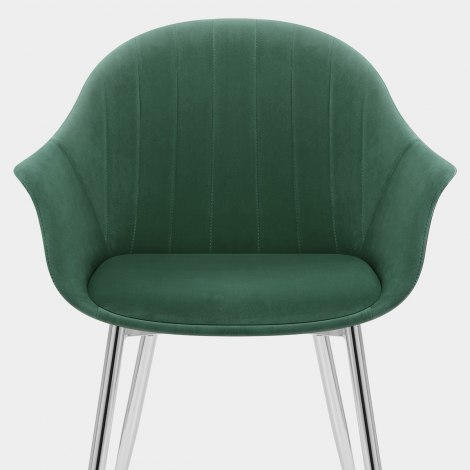 Flare Dining Chair Green Velvet Seat Image