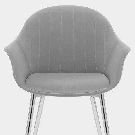 Flare Dining Chair Grey Velvet Seat Image