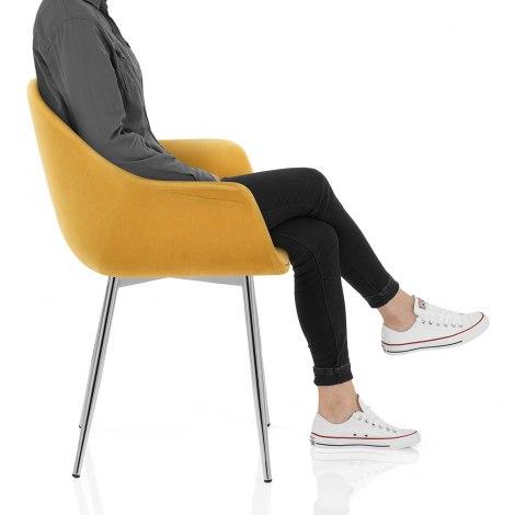 Flare Dining Chair Mustard Velvet Seat Image