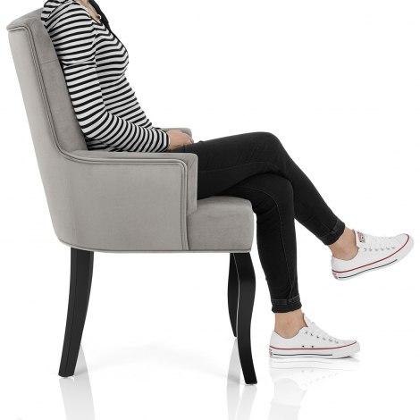 Fleur Chair Grey Velvet Seat Image