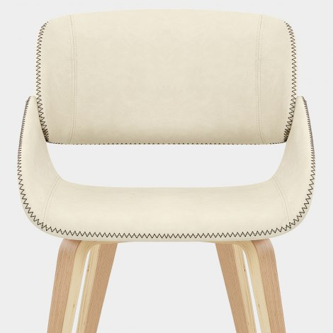 Flint Oak Chair Cream Seat Image
