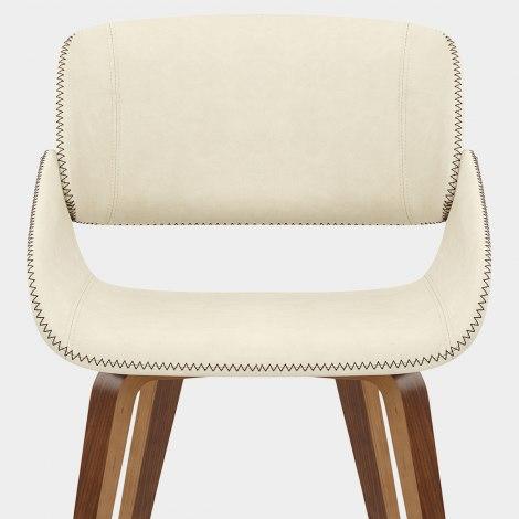 Flint Walnut Chair Cream Seat Image