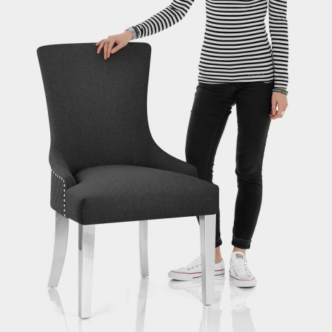 Fontaine Chair Charcoal Fabric Features Image