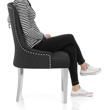 Fontaine Chair Charcoal Fabric Seat Image