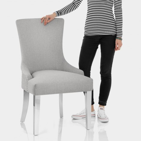 Fontaine Chair Light Grey Fabric Features Image