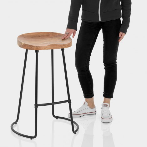Foundry Wooden Bar Stool Features Image