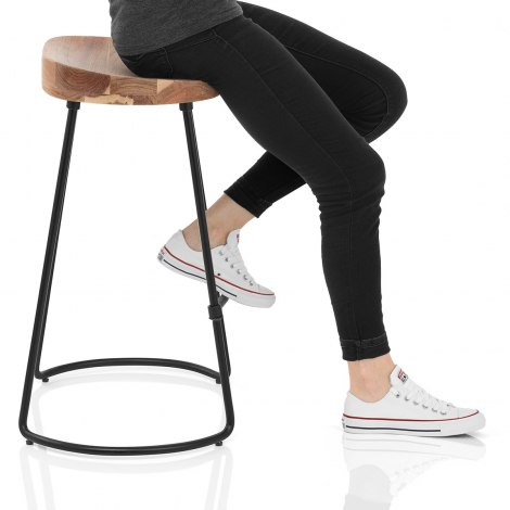 Foundry Wooden Bar Stool Seat Image