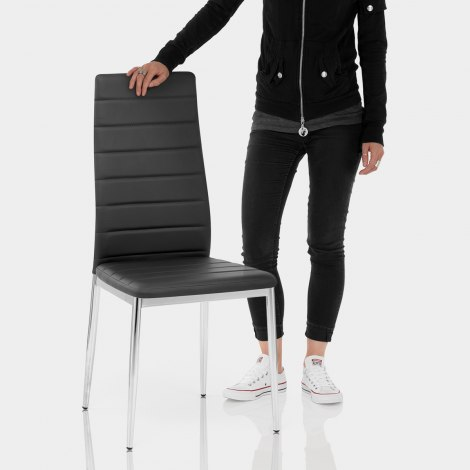Francesca Dining Chair Black Features Image