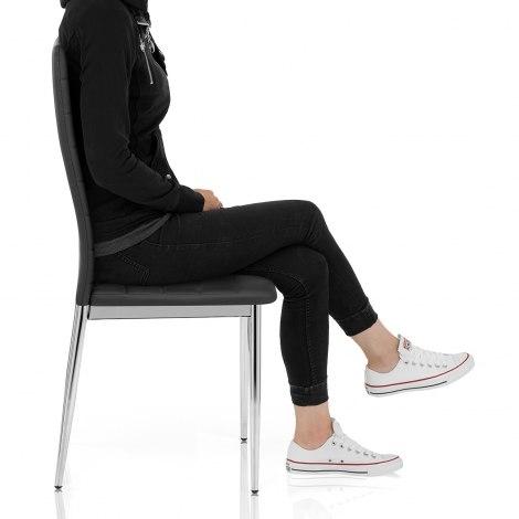 Francesca Dining Chair Black Frame Image