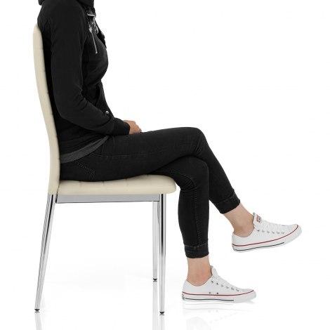Francesca Dining Chair Cream Seat Image