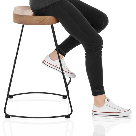 Freedom Black Stool Light Wood Seat Image