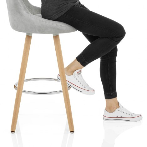 Fuse Wooden Stool Light Grey Frame Image