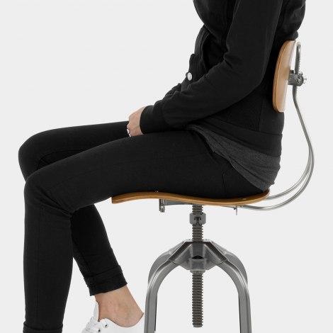 Fuse Toledo Style Antique Steel Stool Seat Image