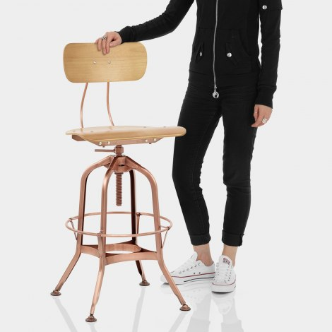 Fuse Toledo Style Copper Stool Features Image