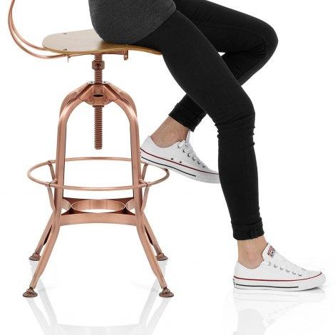 Fuse Toledo Style Copper Stool Seat Image