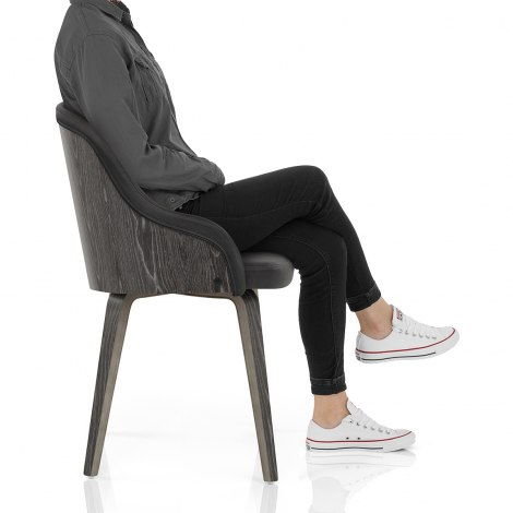 Fusion Wooden Chair Charcoal Seat Image