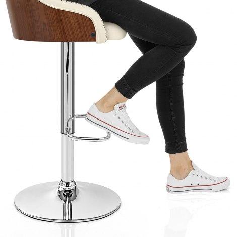 Fusion Walnut Stool Cream Seat Image