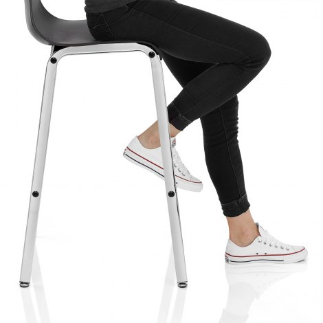 Gabriel Bar Stool Black Seat Image