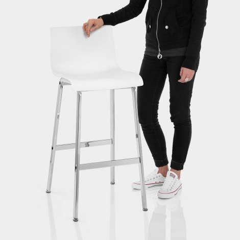 Gabriel Bar Stool White Features Image