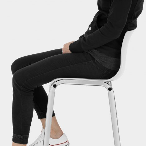 Gabriel Bar Stool White Seat Image