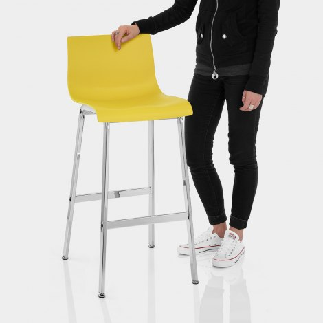 Gabriel Bar Stool Yellow Features Image