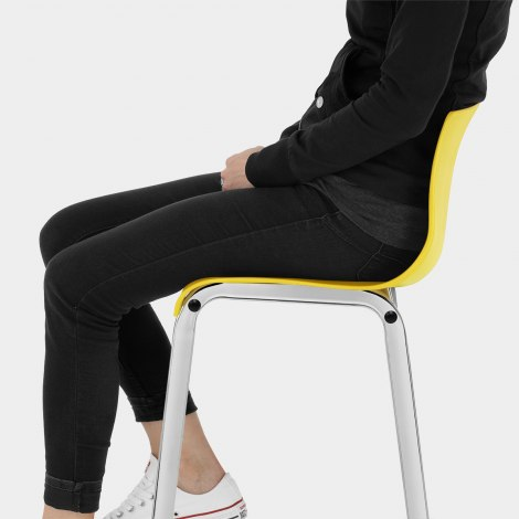 Gabriel Bar Stool Yellow Seat Image