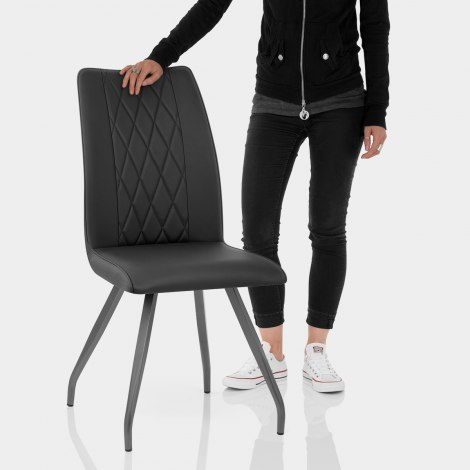 Gio Dining Chair Black Features Image