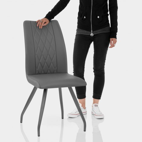 Gio Dining Chair Charcoal Features Image