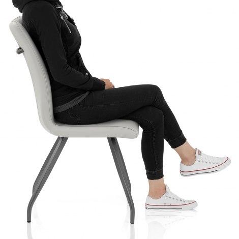 Gio Dining Chair Light Grey Seat Image