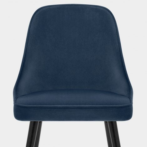 Glam Dining Chair Blue Velvet Seat Image