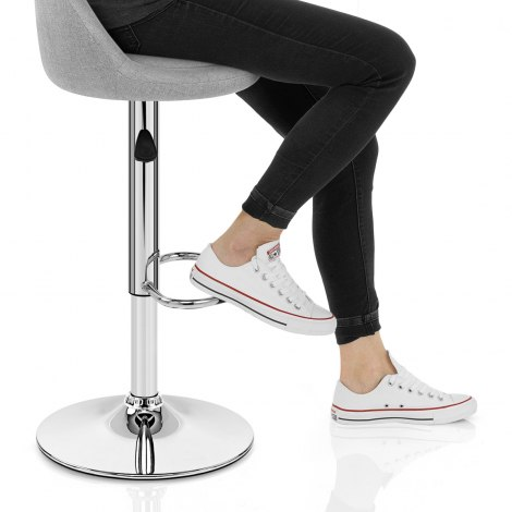Glee Bar Stool Grey Fabric Seat Image